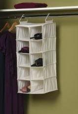 Beau Double Hang Dorm Closet Organizer   10 Pockets