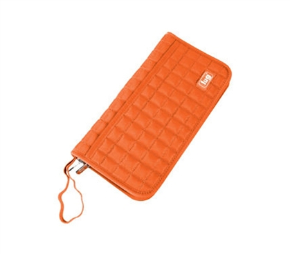 Store All Your Essentials Together - Tango Travel Wallet - Orange