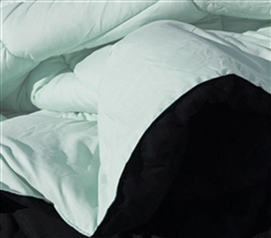 Hint of Mint/Black Reversible College Comforter - Twin XL