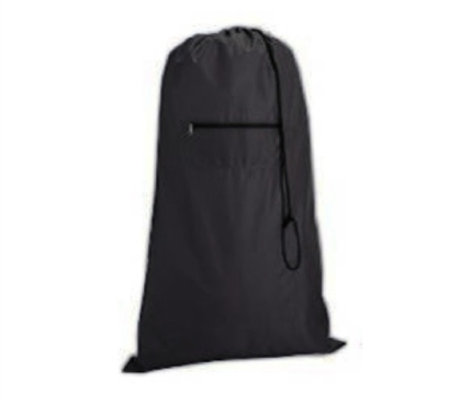 College Supplies Compact College Laundry Bag - Black Dorm Essentials