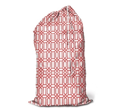 Coral Trellis - College Laundry Bag Dorm Essentials Dorm Necessities