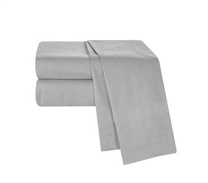 Chino Alloy Gray Twin XL Sheet Set Dorm Essentials Must Have Dorm Items Dorm Sheets