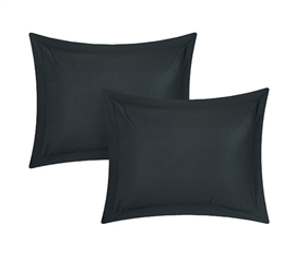 Chino Black Sham Dorm Supplies College Supplies Dorm Necessities Must Have Dorm Items