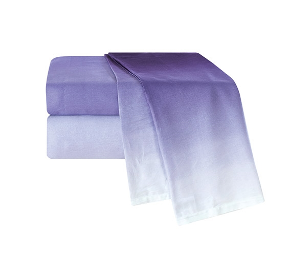Ombre Purple Twin XL Sheet Set