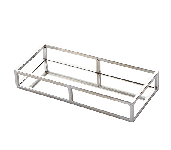 Ega Silver Metal Mirror Tray Large Rectangle Greek Key Top Features Include Beautify Your Dorm Room With A Decorative