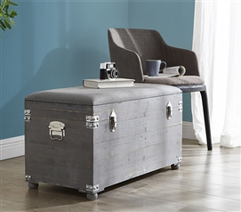 Central Style® Cushion Seater Trunk - Dark Gray with Gray Cushion