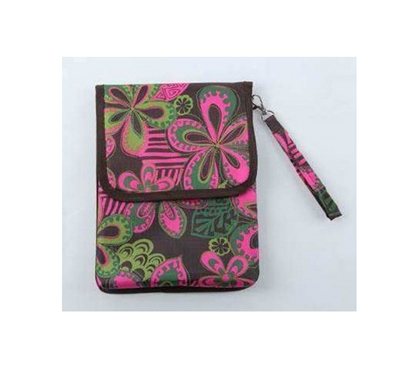 Pink/Green Floral iPad Bag