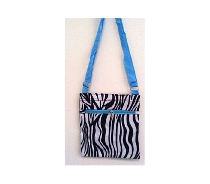 Must Have Dorm Items Blue Zebra Purse Messenger Bag