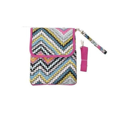 ZigZag with Pink Trim iPad Bag