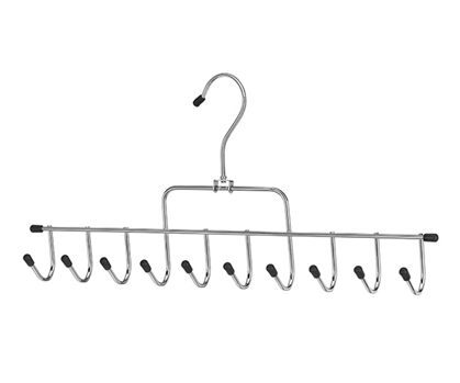 10 Hook Accessory Hanger - Great For College Closet Organization