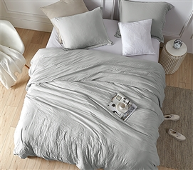 College Duvet Cover Set Weighted Comforter Set Twin Extra Long Bedding Set with Matching Pillow Sham