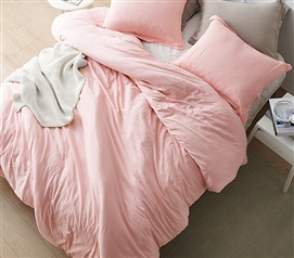 Chommie - Weighted Natural Loft Twin XL Comforter - Rose Quartz