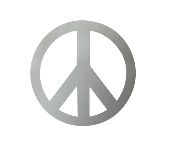 Peace Sign Mirror Peel N Stick Supplies For Dorms Fun Item For