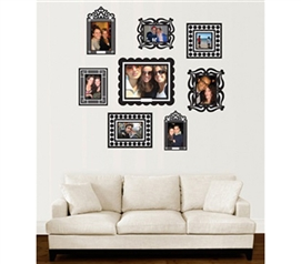 Stickr Frames - Set of 8 Black - Gives your wall pics some fun college decor