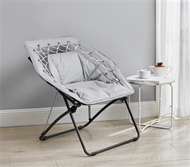 Sosik Bungee Mesh Moon Chair - Glacier Gray