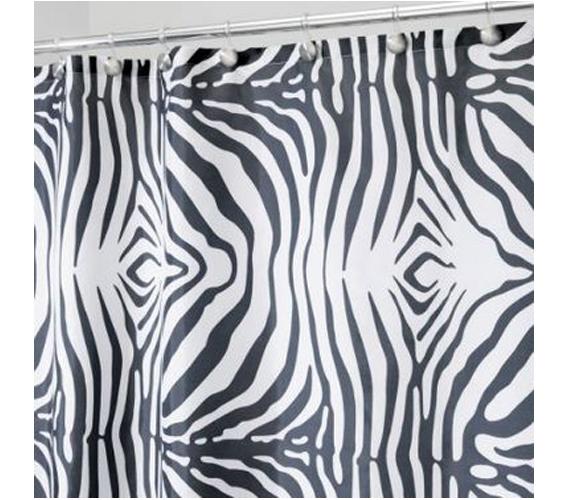 Zebra Shower Curtain Dorm Bathroom College