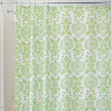 Damask Lime Shower Curtain