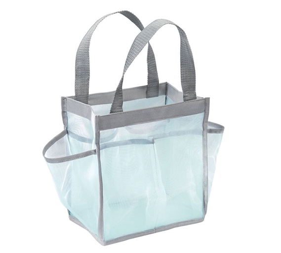 Dorm Shower Caddy Tote - Mint and Gray