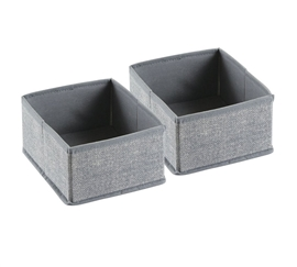 Gray Small Dorm Organizers - Set of 2