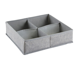 Gray Large 4 Compartment Dorm Organizer