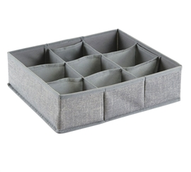 Gray Large 9 Compartment Dorm Organizer