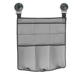 Strong Hold Suction Shower Caddy - Light Gray and Charcoal Dorm Essentials College Supplies Must Have Dorm Items