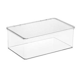 Clear Dorm Organizer with Lid - Large