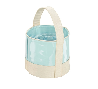 Dorm Shower Tote Small - Mint and Gold