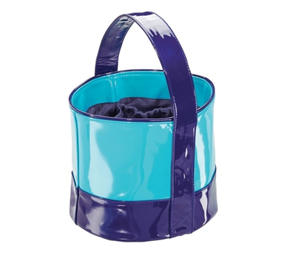 Dorm Shower Tote Small - Navy and Teal