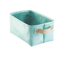 Dorm Organizer Tote Small - Mint and Gold