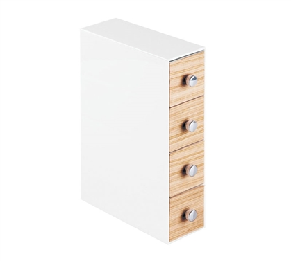 Slim Drawer Jewelry Organizer - Light Wood
