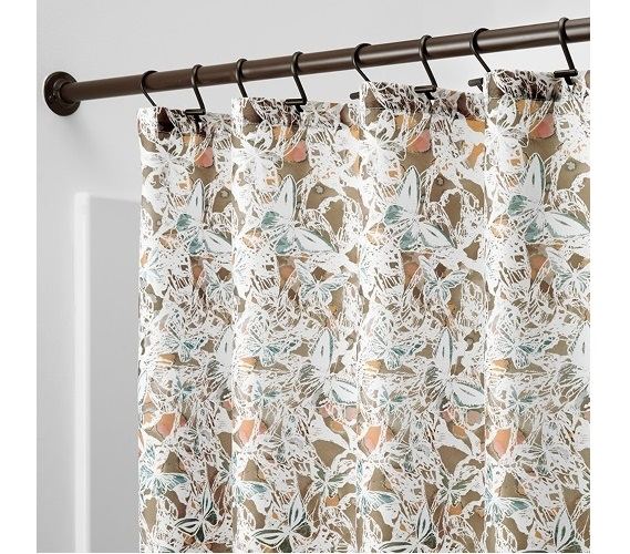 Butterfly Fabric Shower Curtain