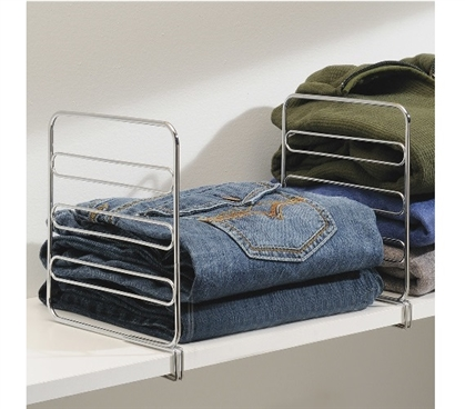 Dorm Closet Shelf Designer - Chrome - Set of 2 Dorm Organization