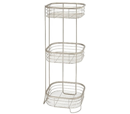 3 Tier Shower Shelf Square Dorm Room Storage Dorm Essentials
