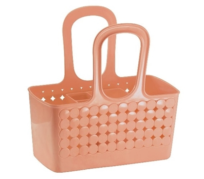 Divided Bath Shower Tote - Coral Must Have Dorm Items Dorm Accessories