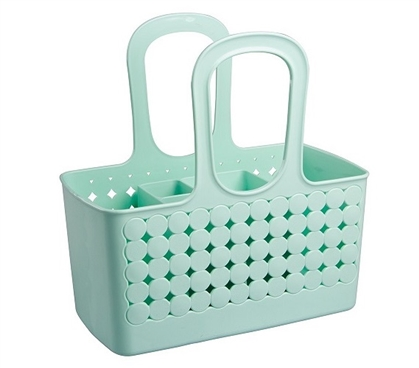 Divided Bath Shower Tote - Mint Dorm Essentials Dorm Accessories