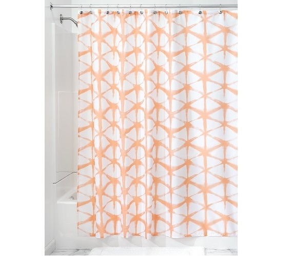 Diamond Batik Fabric Shower Curtain