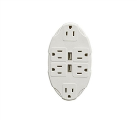 Outlet Multiplier With USB Ports