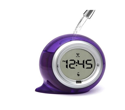 Digital Water Powered Alarm Clock Dorm Room Essentials