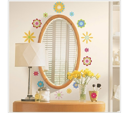 Graphic Flowers - Peel N Stick Dorm Decor