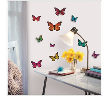 Cheap College Student Favorite - The 3D Butterflies - Peel N Stick Dorm Decor