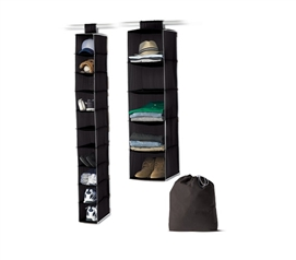3-Piece College Closet Set - Black - Stuff For College Students