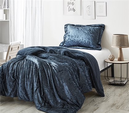 Coma Inducer Twin XL Comforter - Velvet Crush - Champagne Navy