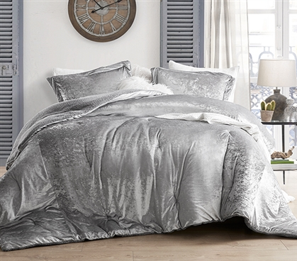 Coma Inducer Twin XL Comforter - Velvet Crush - Champagne Alloy
