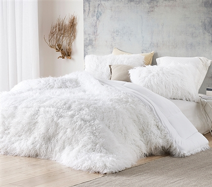 The Bare Himalayan Yeti - Coma Inducer Twin XL Comforter - Pure White