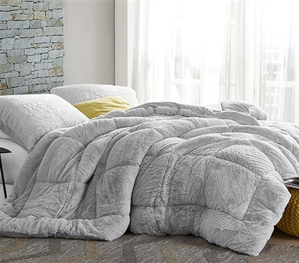 Are You Kidding Bare - Coma Inducer Twin XL Comforter - Antarctica Gray