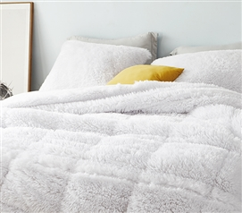 F-Bomb - Coma Inducer Twin XL Comforter - Pure White