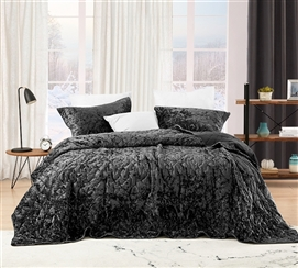 Bare Bottom Velvet Crush Full Quilt - Pewter