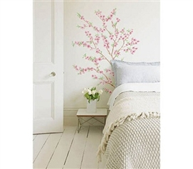 Adds Beauty And Elegance - Asian Style Peach Tree - Peel N Stick - Cool Wall Decor