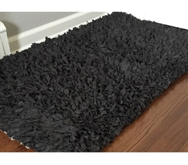 Jersey Knit Cotton Dorm Rug - Charcoal Grey College Rug Dorm Room Decorations